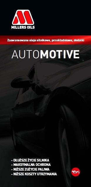 OKŁADKA KATALOG MILLERS OILS AUTOMOTIVE