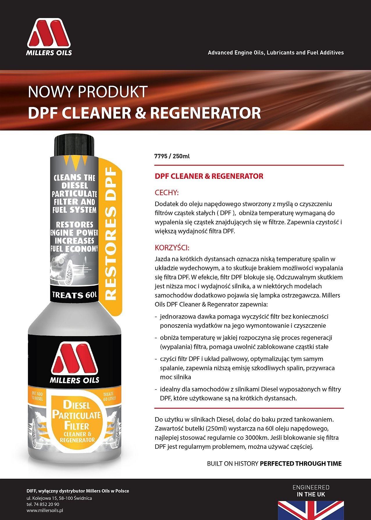 Millers Oils DPF Cleaner & Regenrator 250ml
