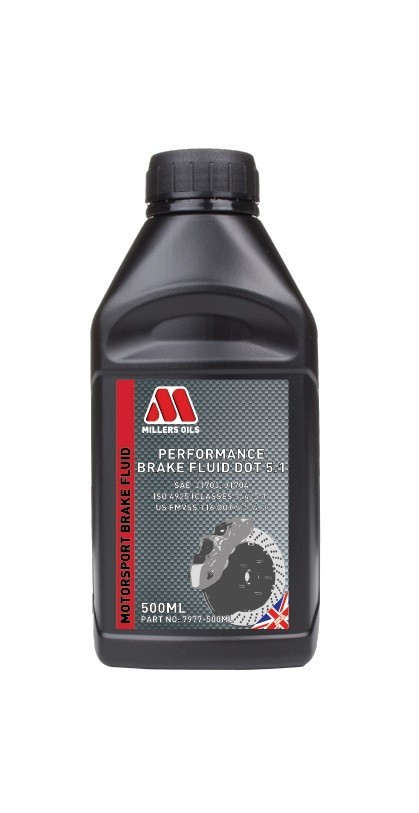 Millers Oils Performance Brake Fluid DOT 5.1 500ml