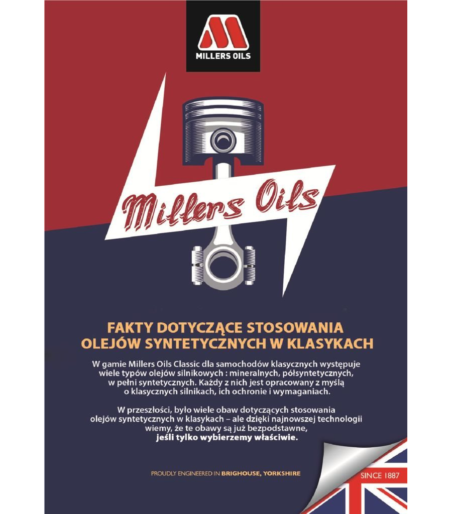 Millers Oils Classic - oleje syntetyczne 2021